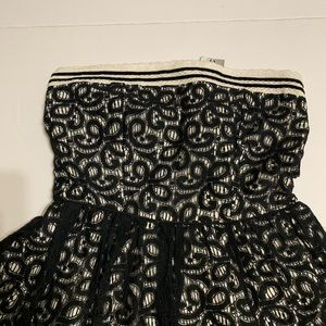 Hot Topic Dresses - HOT TOPIC Black Lace Strapless Dress NWT [DR-23]